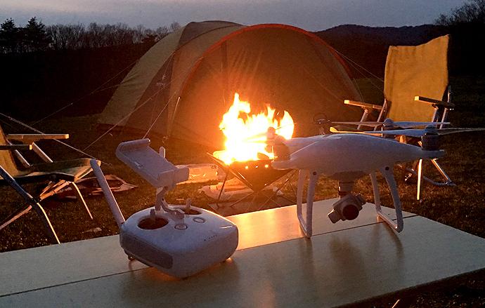 画像:ドローンキャンプ